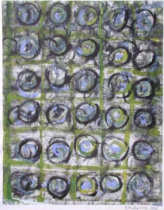 Brigitte McReynolds, Blue and Green Circles
