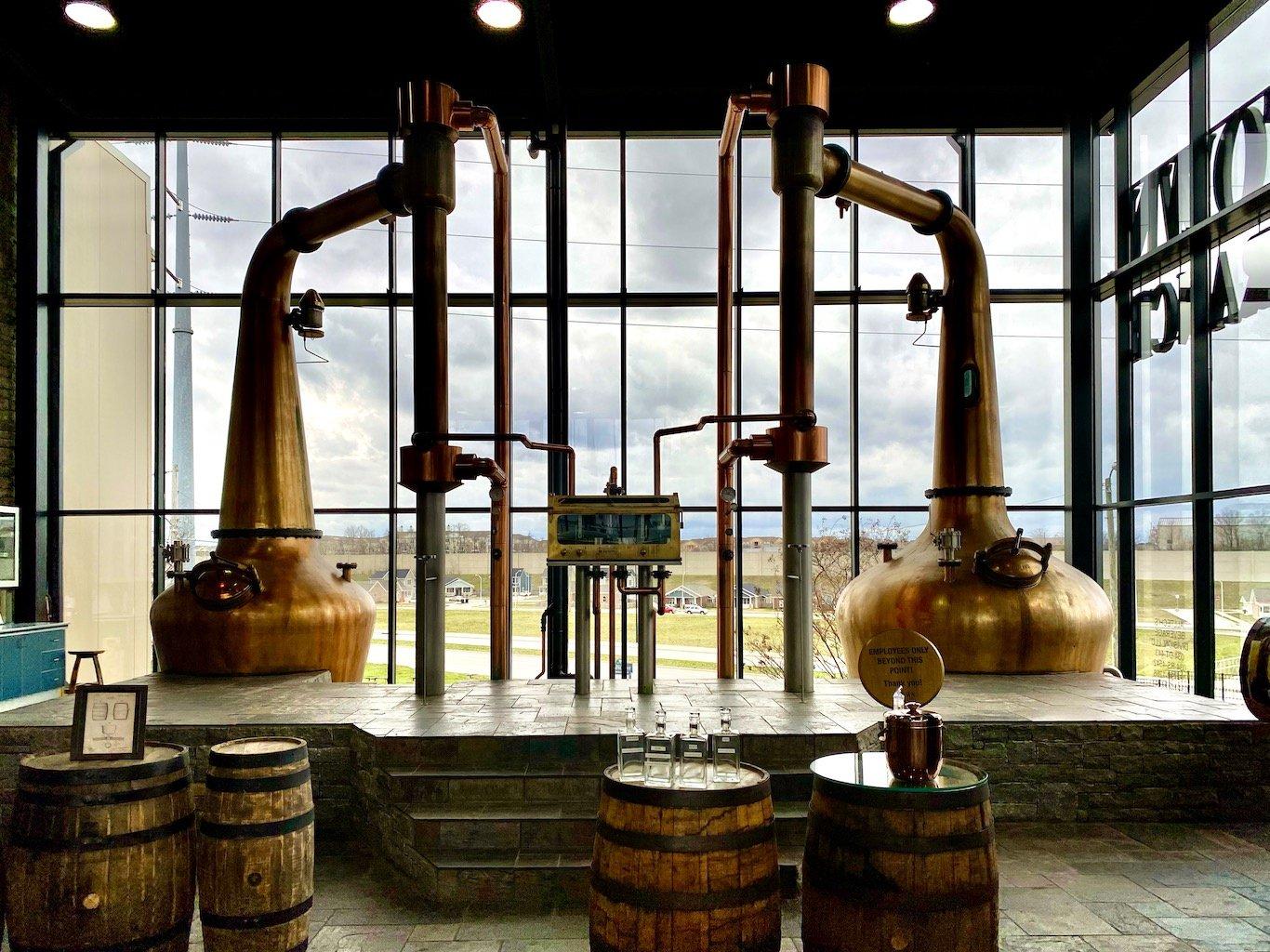 Copper Pot Stills from Forsyth's in Scotland -Lexington Brewing & Distilling Co (Town Branch Distillery)