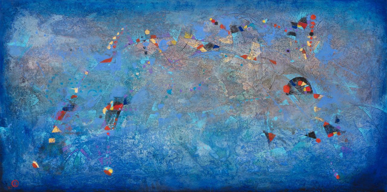 Conversando con Calder técnica mixta s/tela 100 x 200 cms. / 39 x 79 inches
