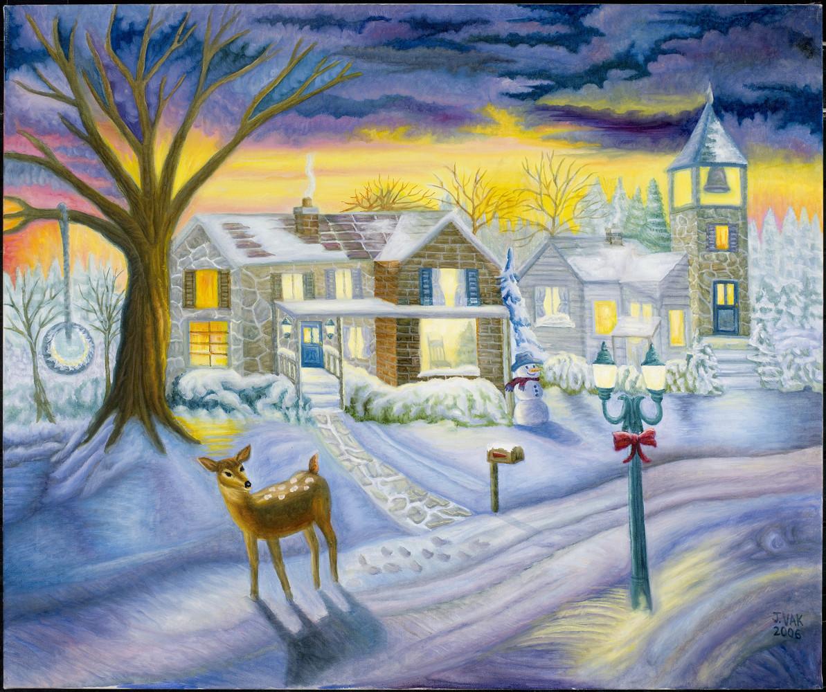 Winter Wonderland 30x36 Original Oil $3850 2006