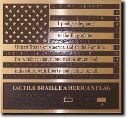 Tactile braille american flag||||