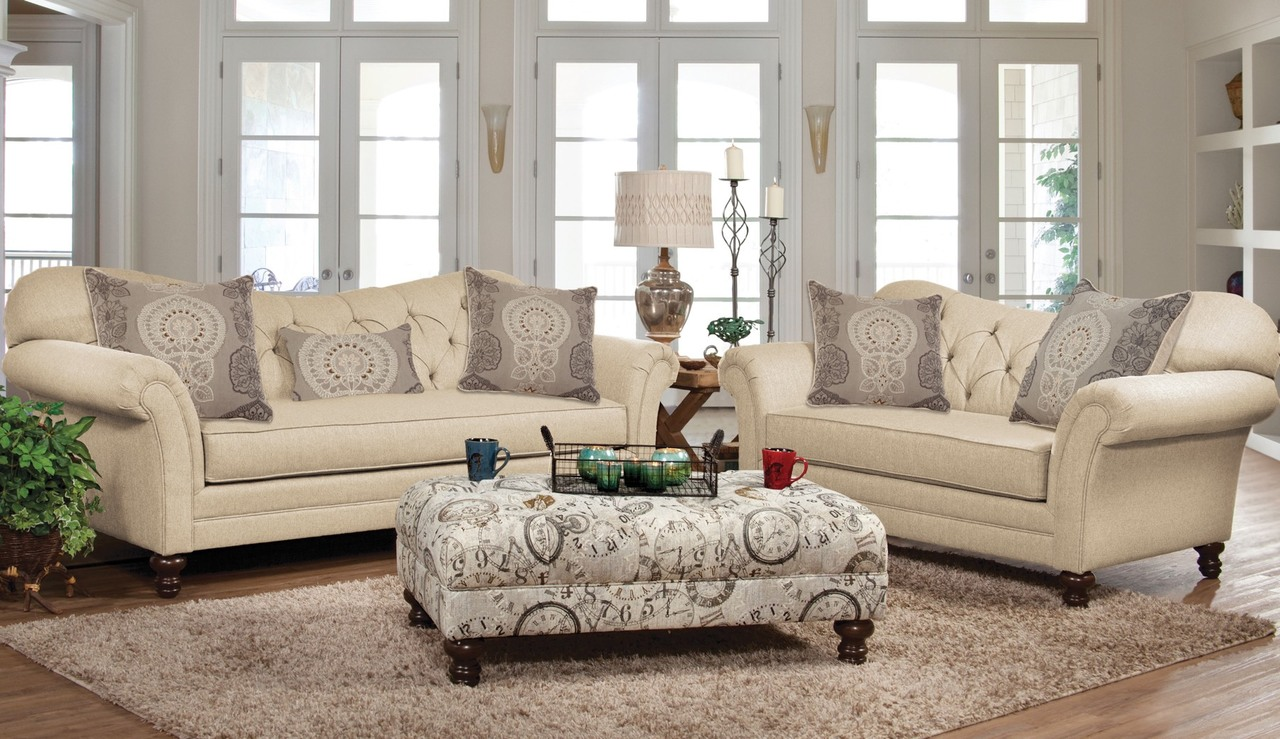 8750 Sofa and Love Seat New Siam by Serta
