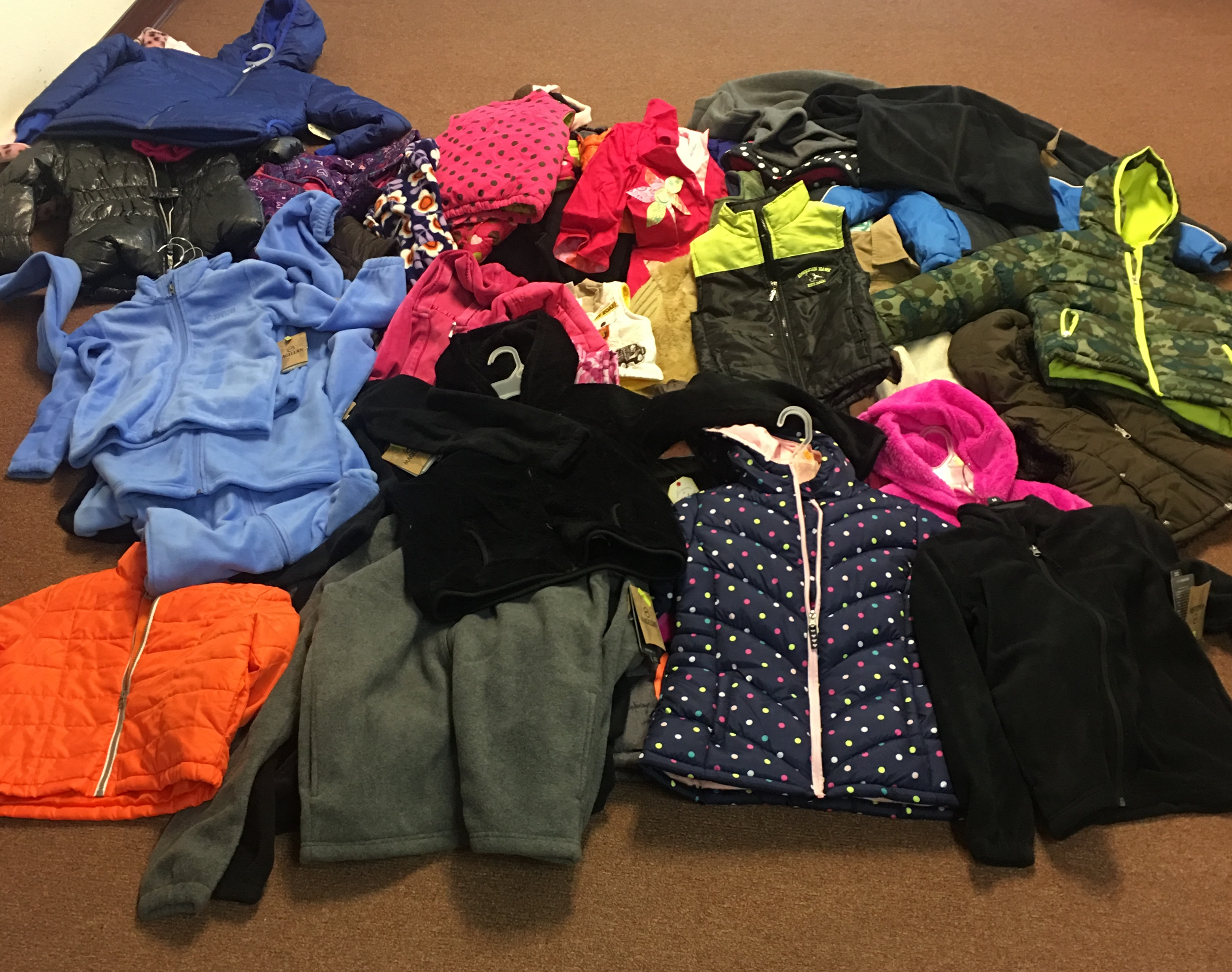 Thank you everyone for donating coats to the students at Travis Elementary. We collected 50 coats!
