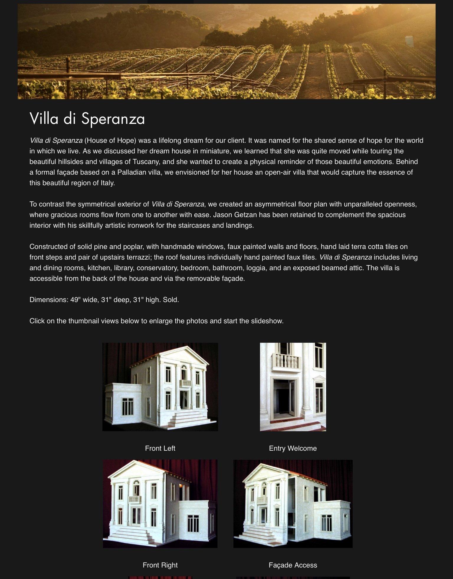Villa di Speranza — 2003