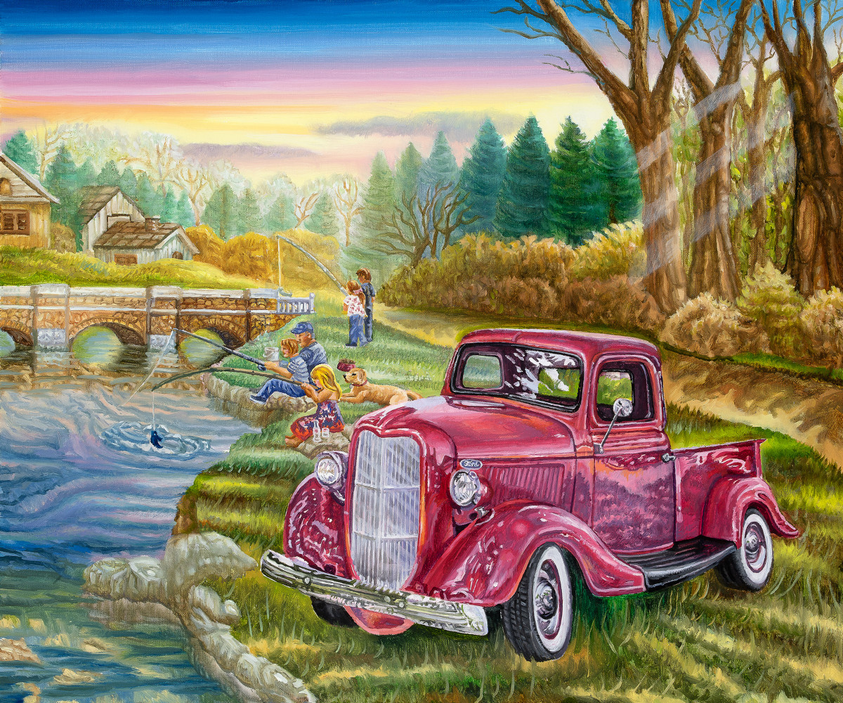 Old Ford Truck 20 X 24 Original Oil    $2500     2019