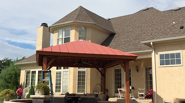 Patio With a Red Roof