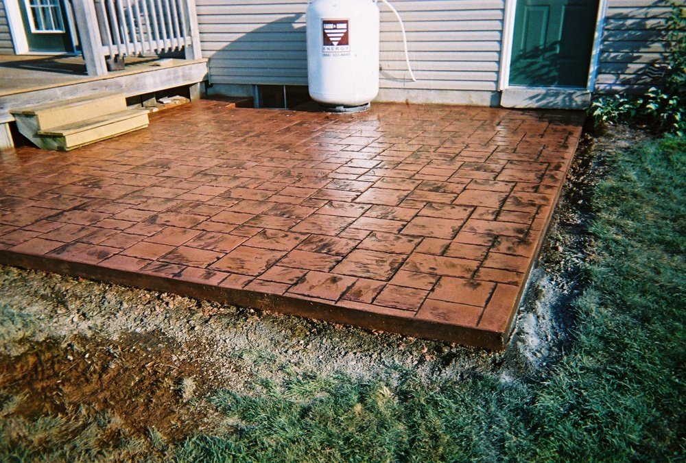 Low maintenance stamped concrete