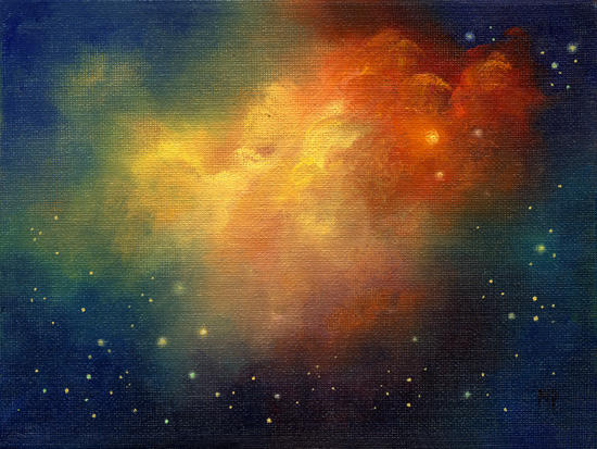 "Angel's Flight 6""x8""  Oil on Canvas"