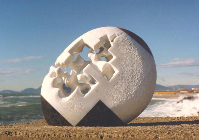 Inner Soul - White marble, portoro - Italy