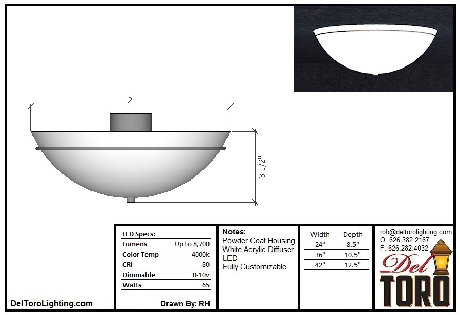 400C-Bowl Ceiling Mount