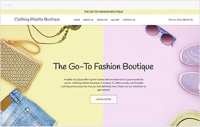 Website Showcase - Fashion