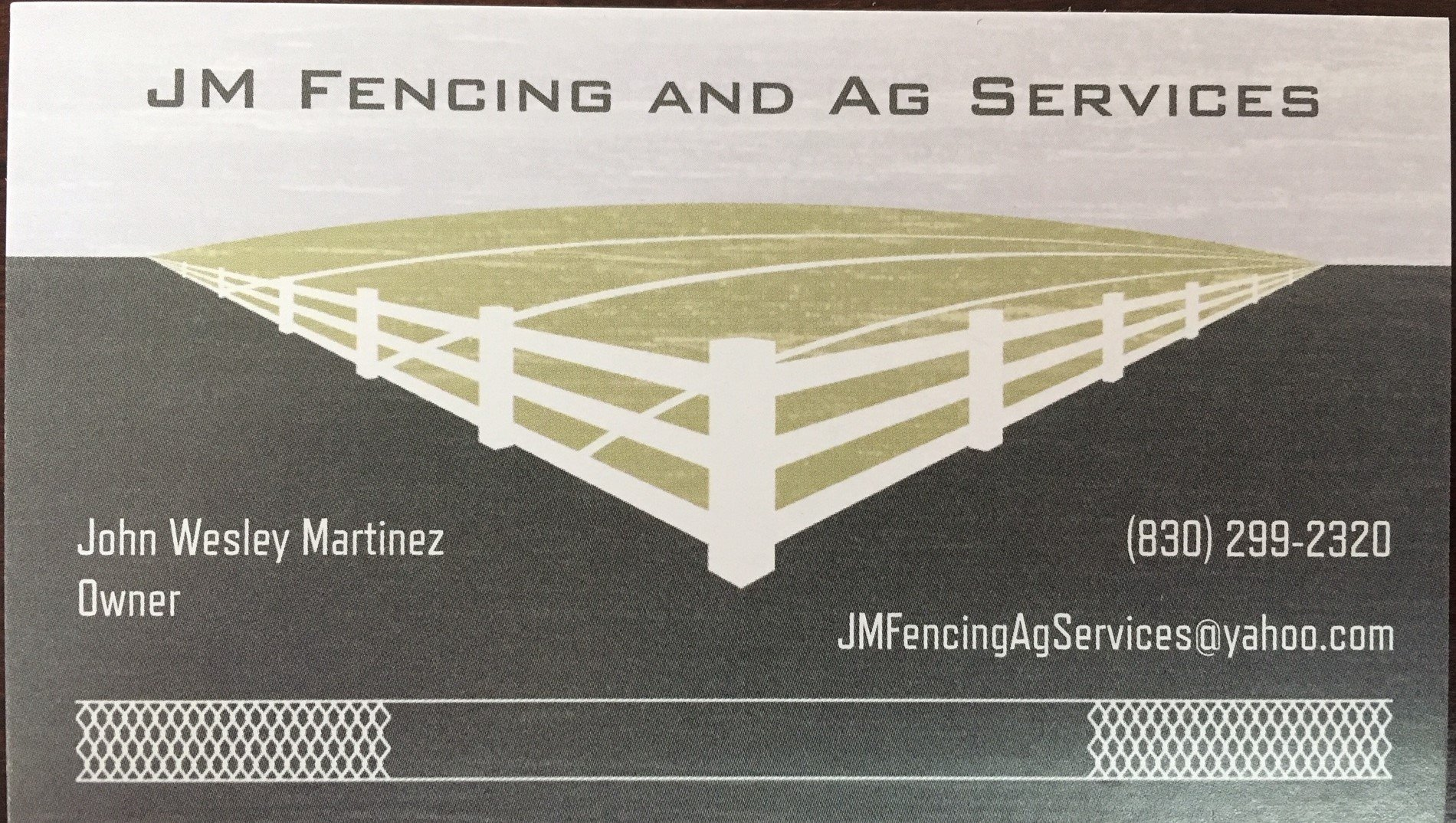 JM Fencing and Ag Services JMFencingAgServices@yahoo.com 830 299-2320
