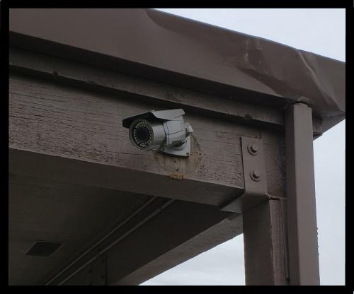 surveillance camera entrance