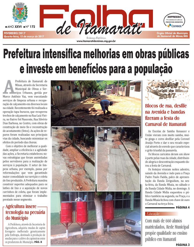 JORNAL DA PREFEITURA DE ITAMARATI DE MINAS FEVEREIRO DE 2017