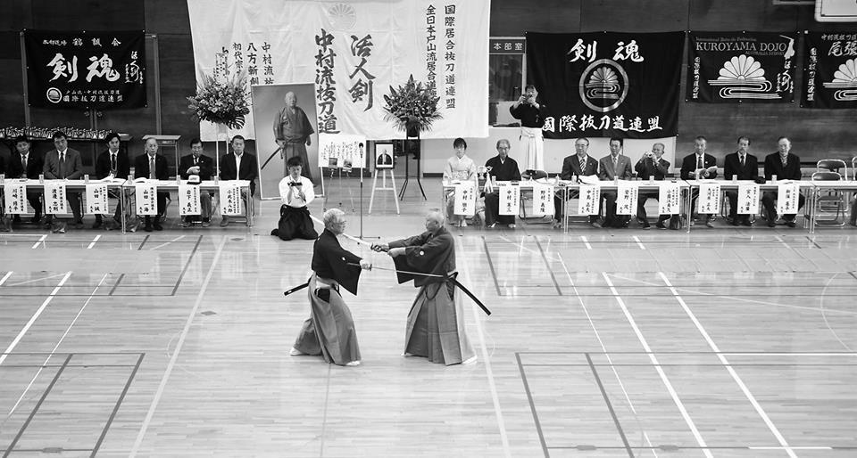 Kumitachi embu - Nomura Sensei and Takano Sensei.