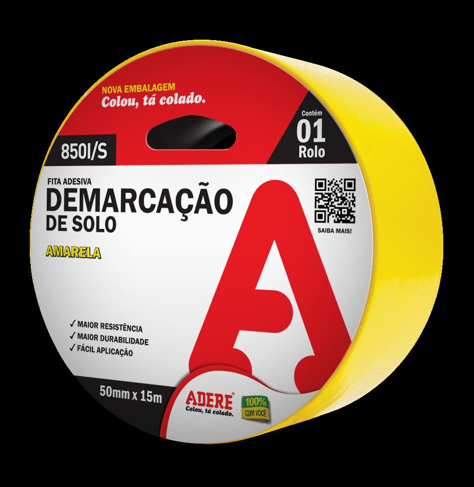 FITA DEMARCAÇÃO SOLO ADERE AMARELO PRETO VERMELHO FITAS ADERE