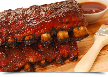 Slabs of BBQ spare ribs||||