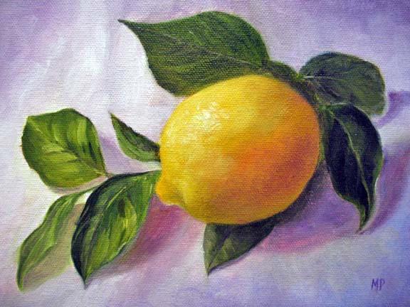 "Lemon - 6""x8"" Oil on Canvas Panel SOLD"