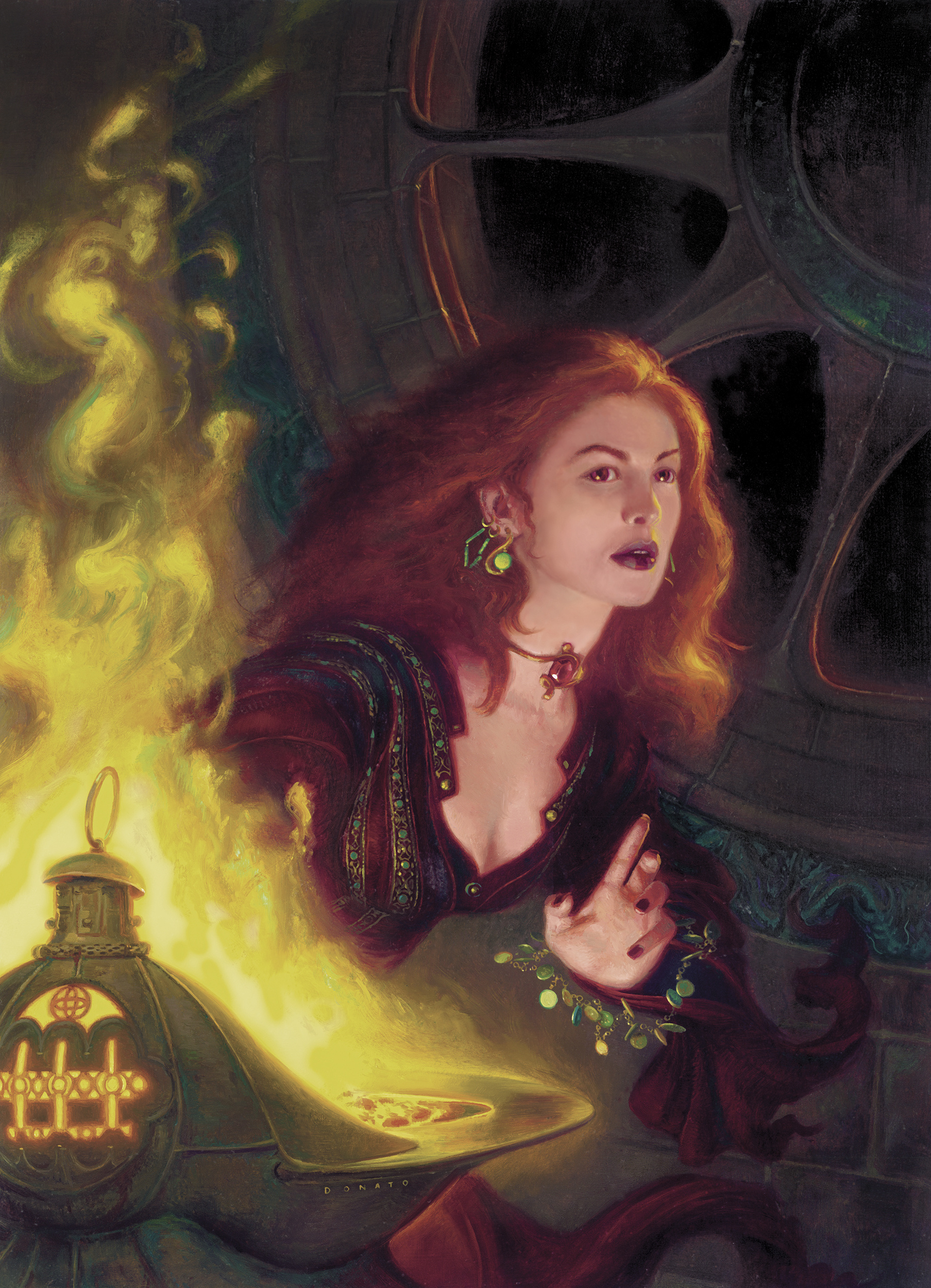 "Melisandre 24"" x 20"" Oil on Panel 2006 cover image for Dragon Magazine collection of Kirk and Leah Dilbert"