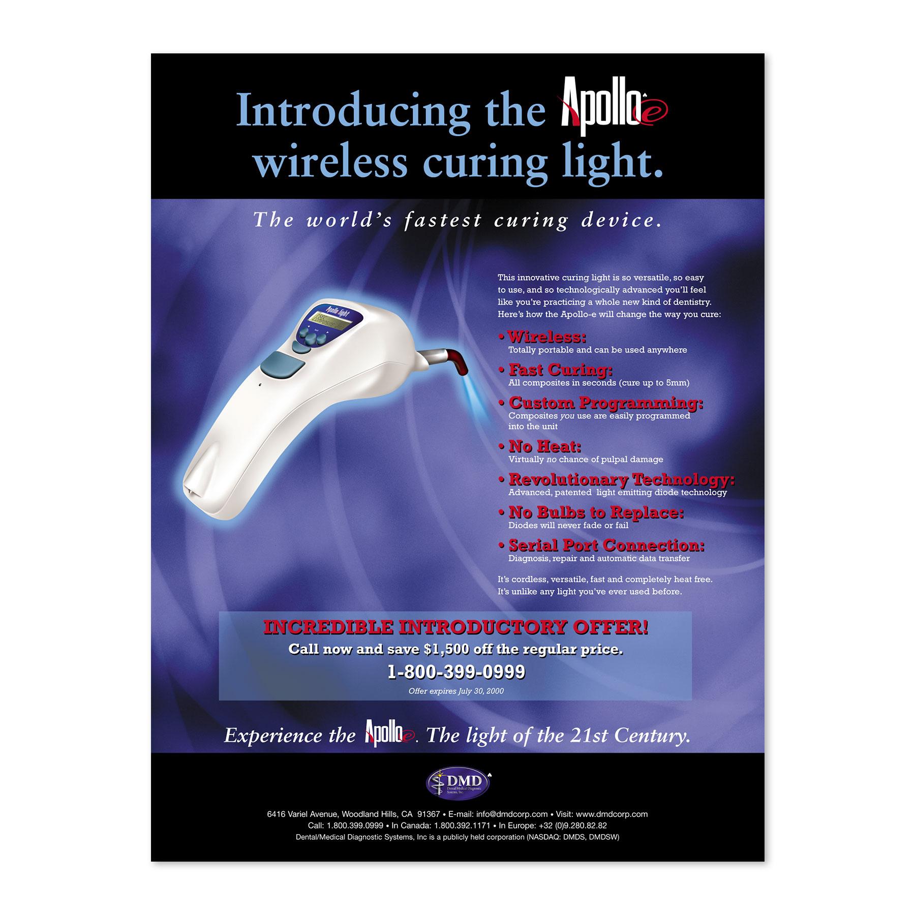 DMD Apollo Dental Products Report Magazine Ad