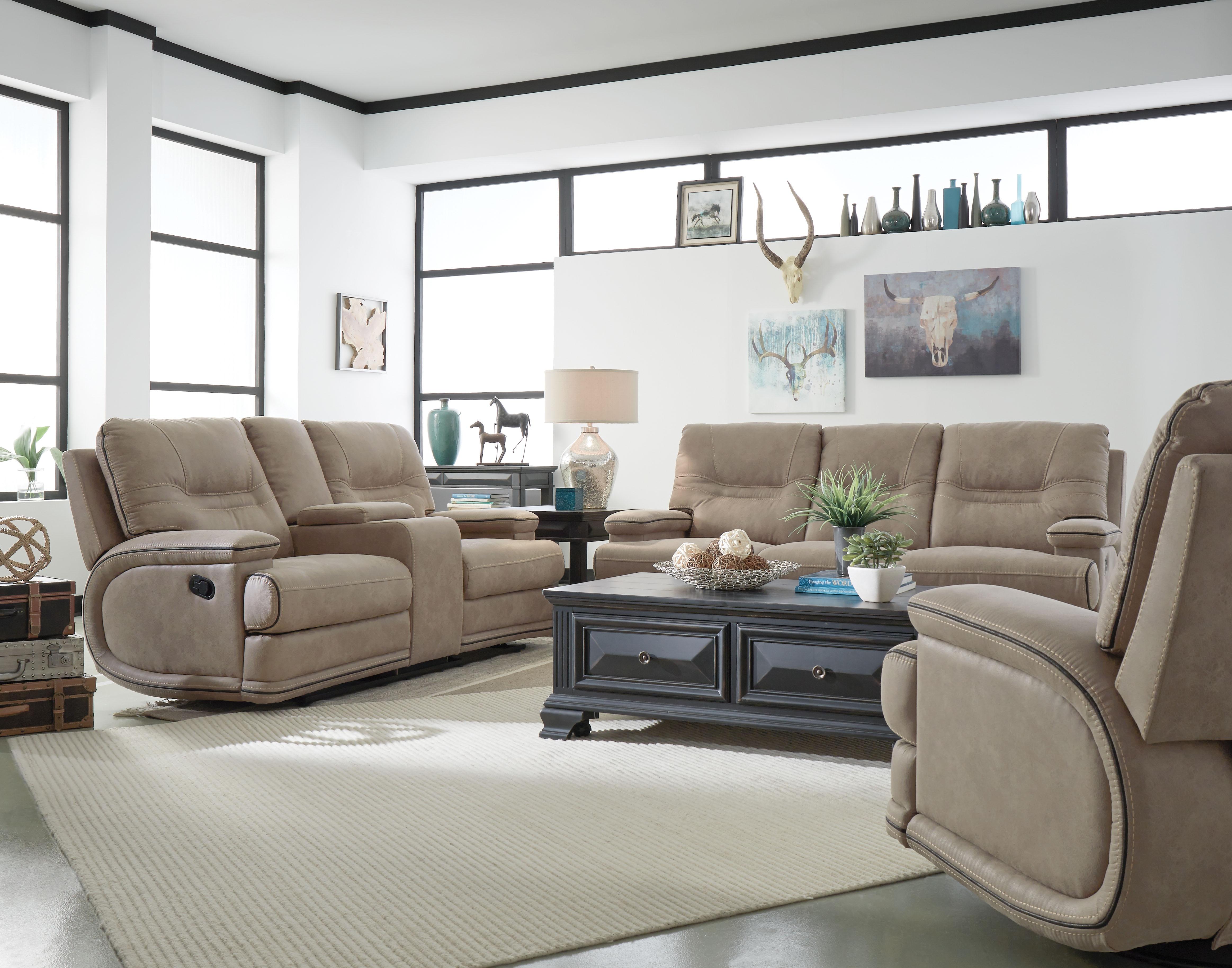 McKinley Power Recliners Microfiber Living Room Set
