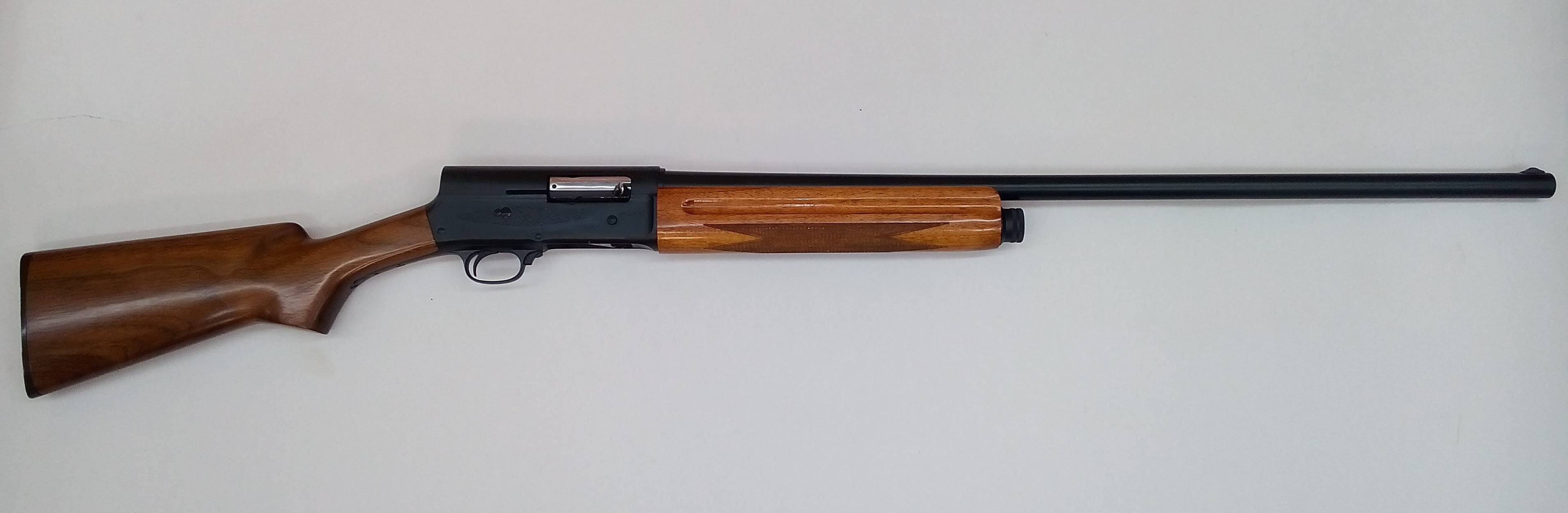 Browning A5  We  cerakoted metal with graphite black, and refinished stock and forend with high gloss polyurethane.