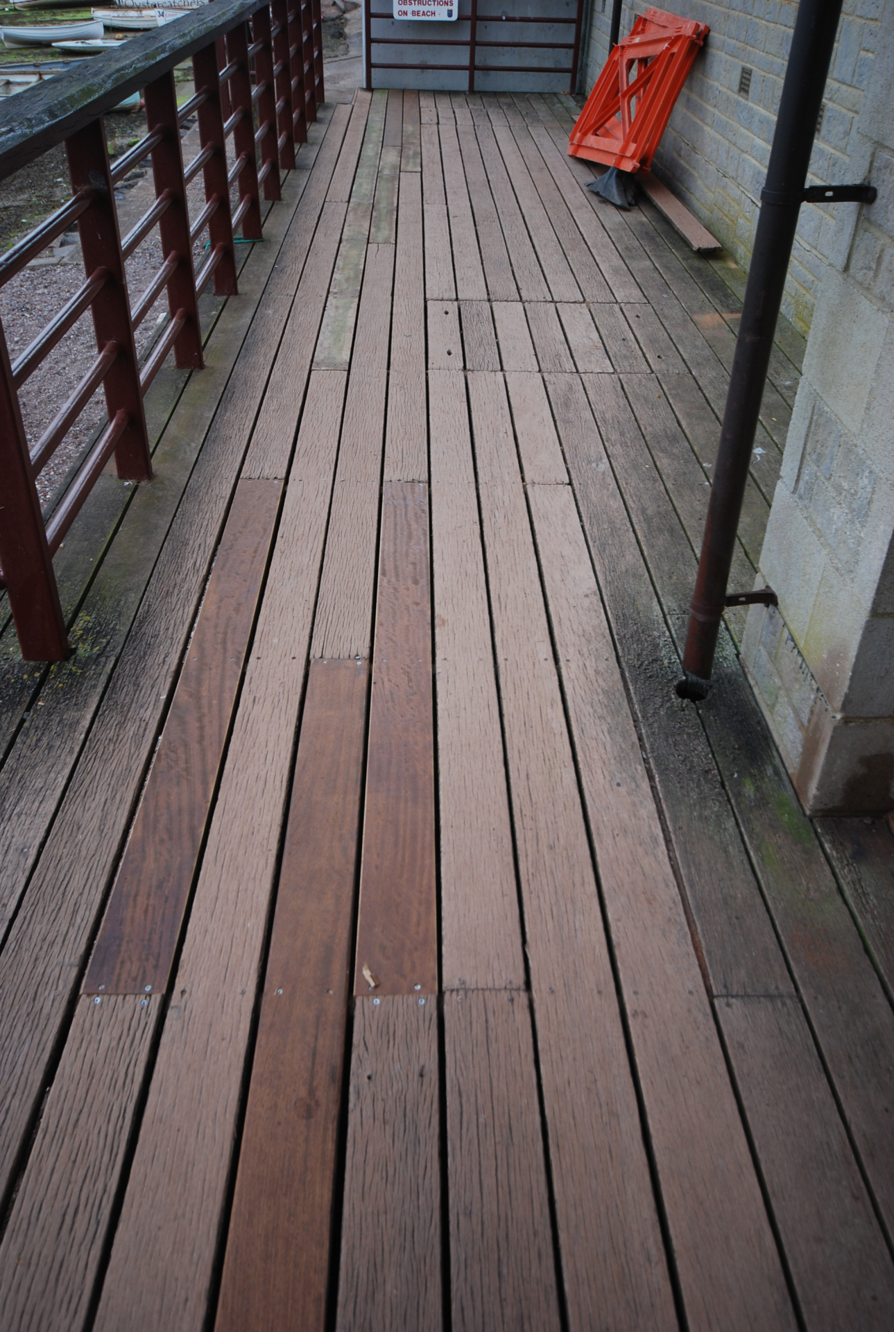 Decking repairs on back beach