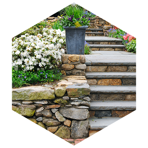 Stone Wall And Steps