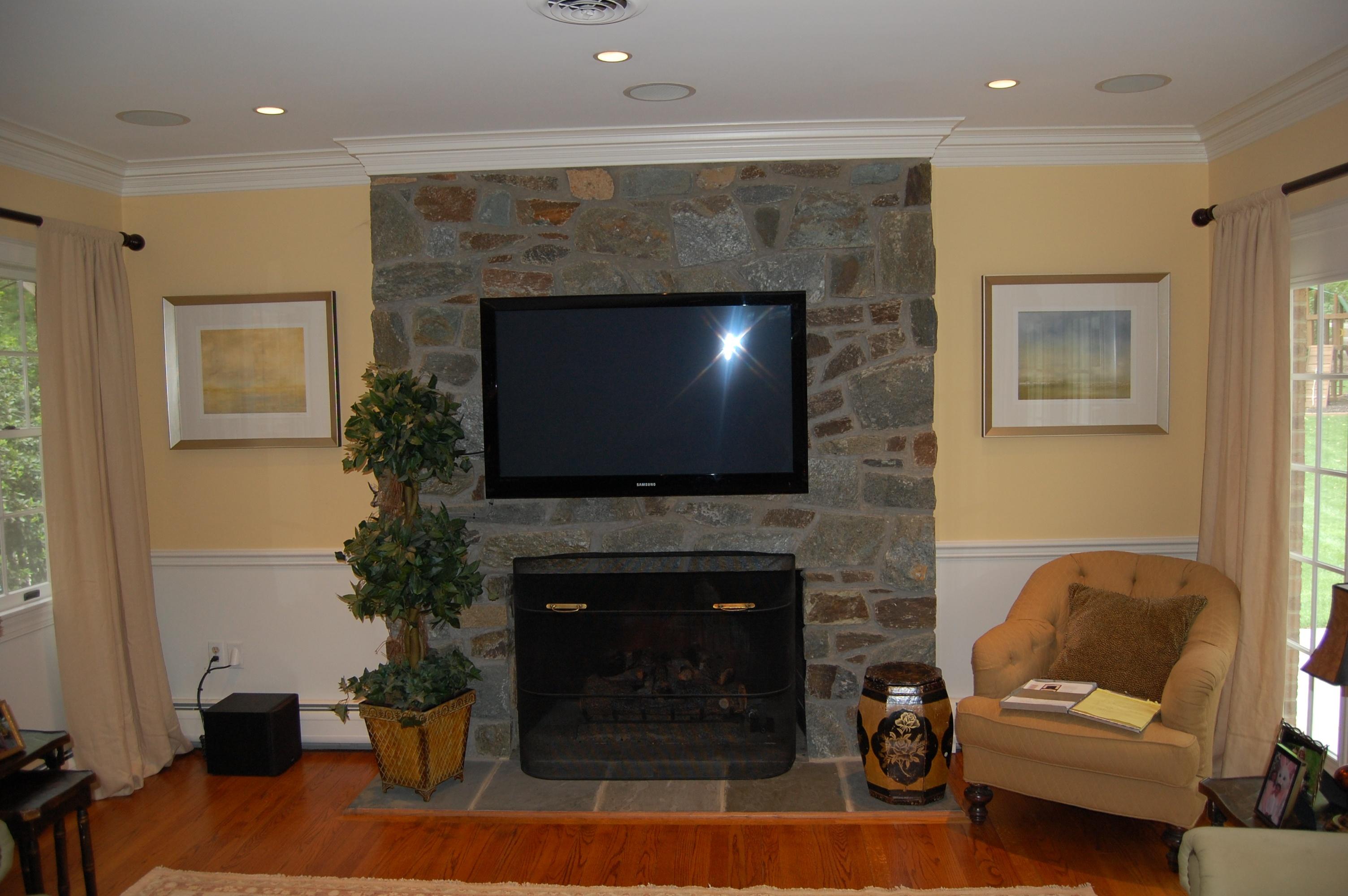 fireplace renovation before A