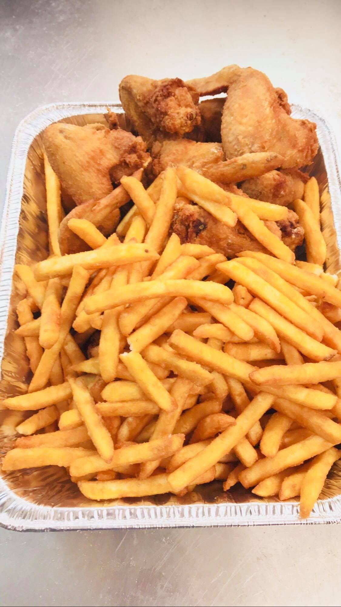 Chicken Wings And Fries 1