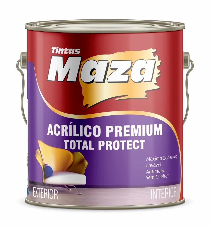 TINTA ACRÍLICA PREMIUM  ACETINADA TOTAL PROTECT MAZA