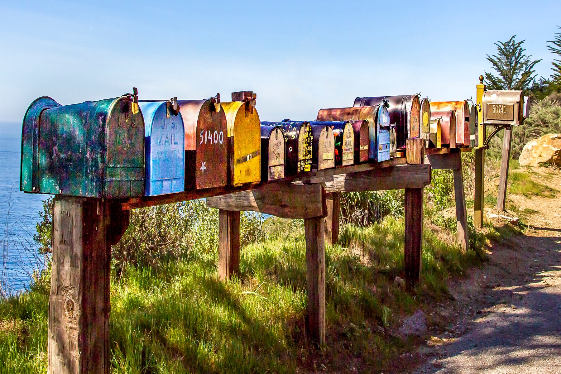 YOU'VE GOT MAIL - We were just driving along somewhere in California when we came across this bank of mail boxes. I thought they were worth a shot or two. Actually, I think I took five, but this was the one I liked most.
