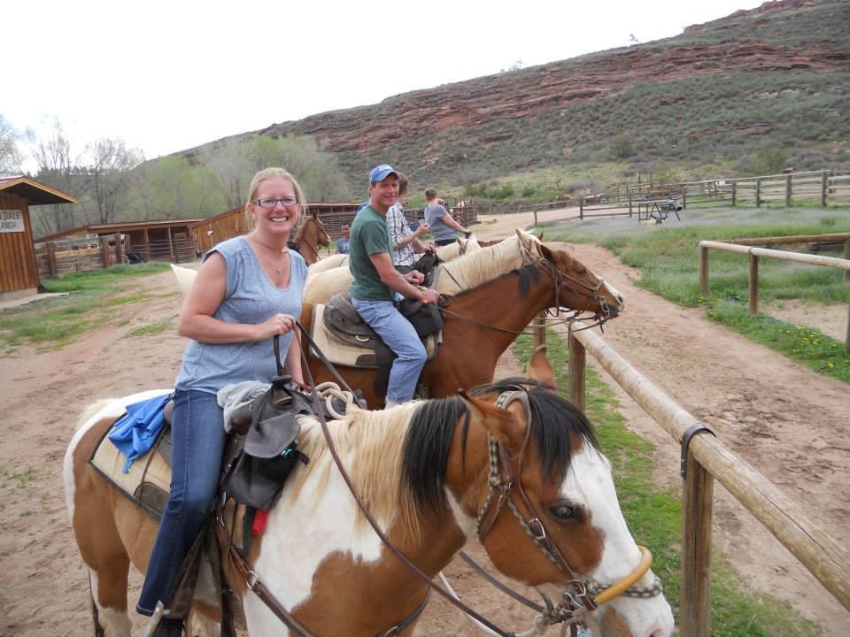 Angie and Jeff Horseback Riding