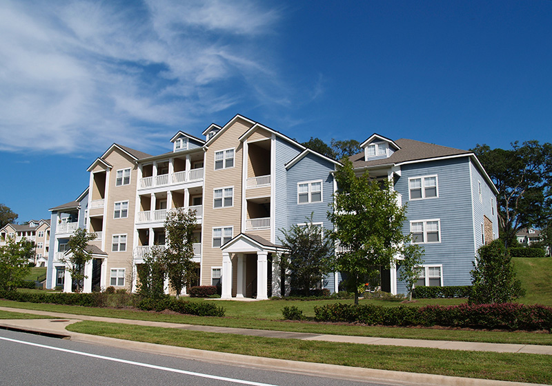 Townhomes with vinyl siding