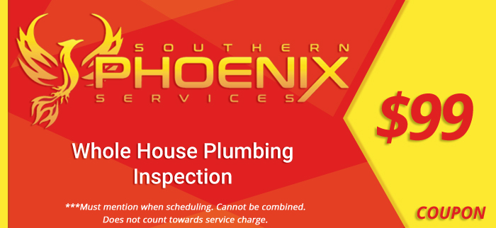 Coupon for a $99 whole house plumbing inspection.