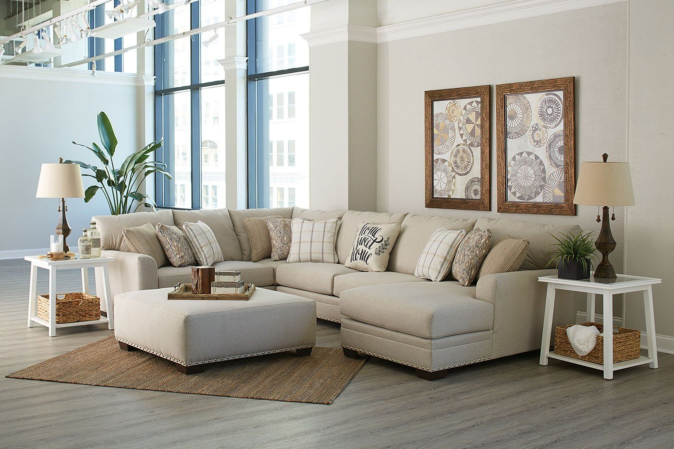 4478 Middleton Cement Sectional Sofa