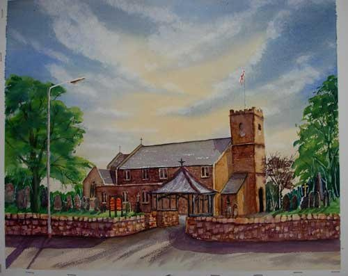 St Lawrence's Church .. Longridge Watercolour