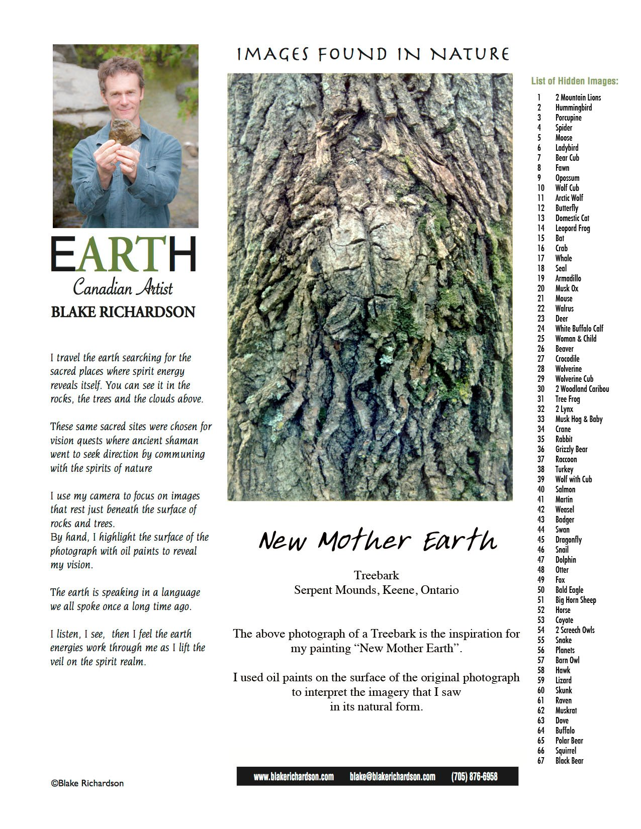 New Mother Earth : Backing Page