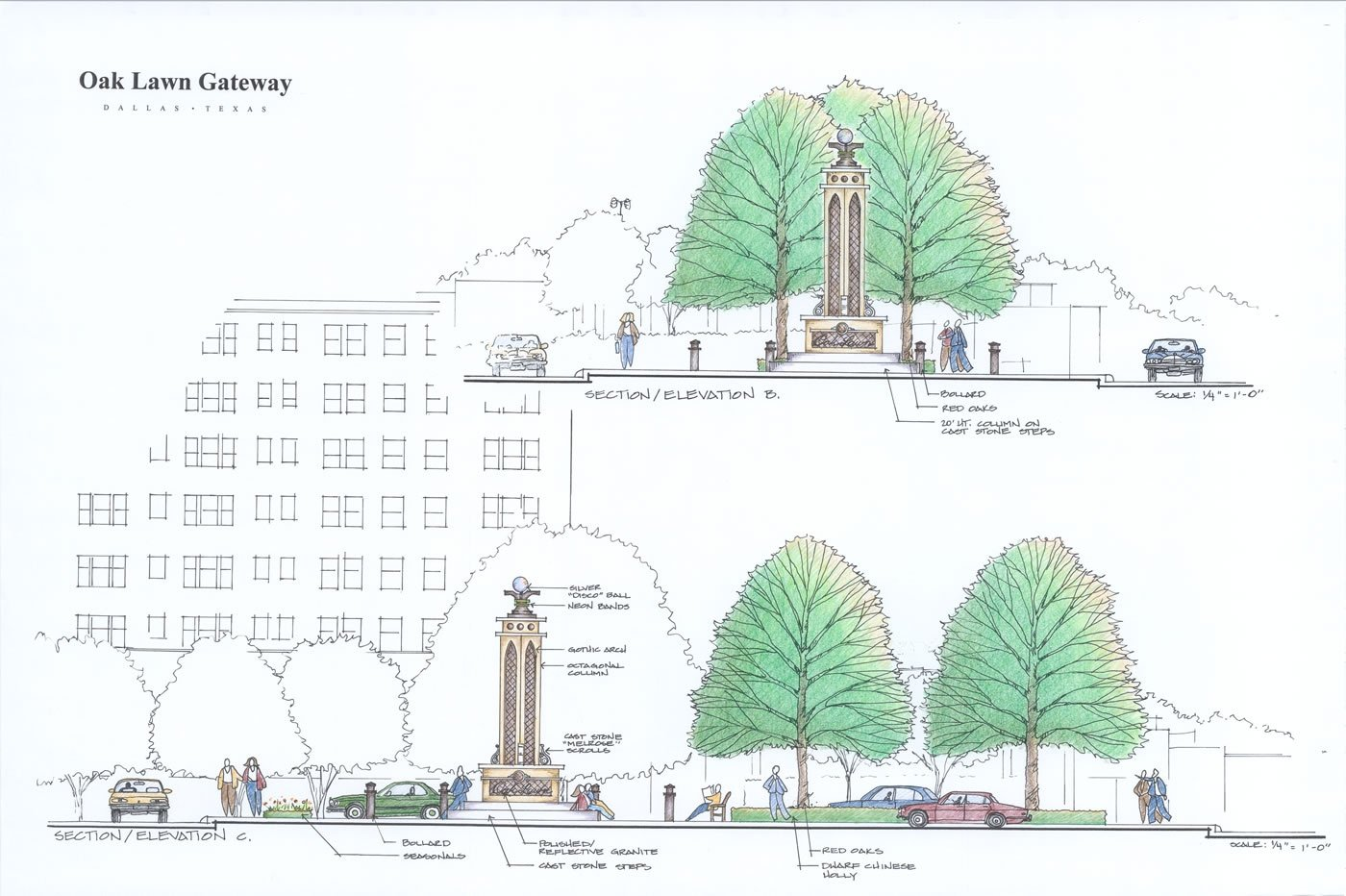 Conceptual Plans for the monument