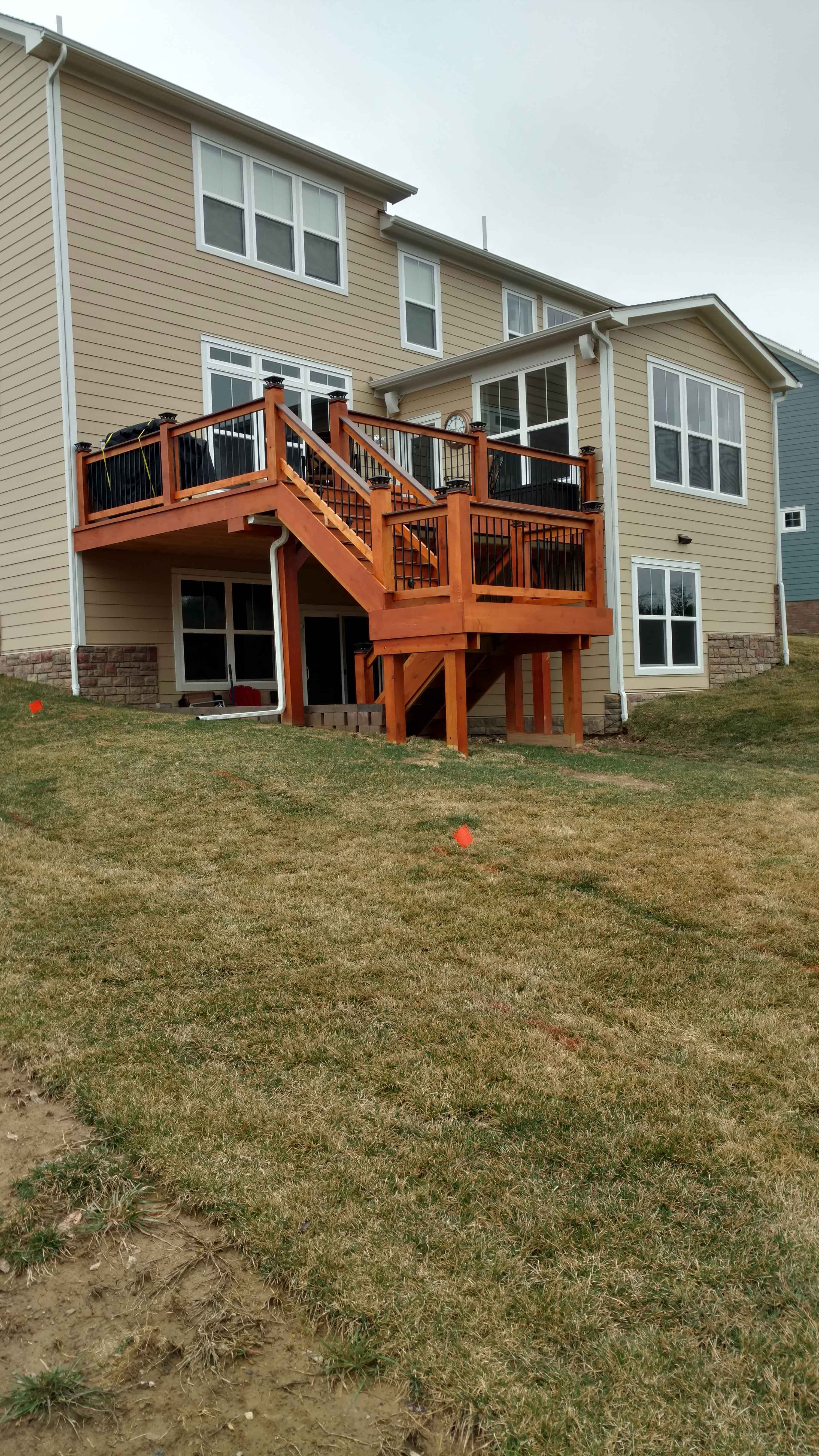 Rustic Deck With Stairs