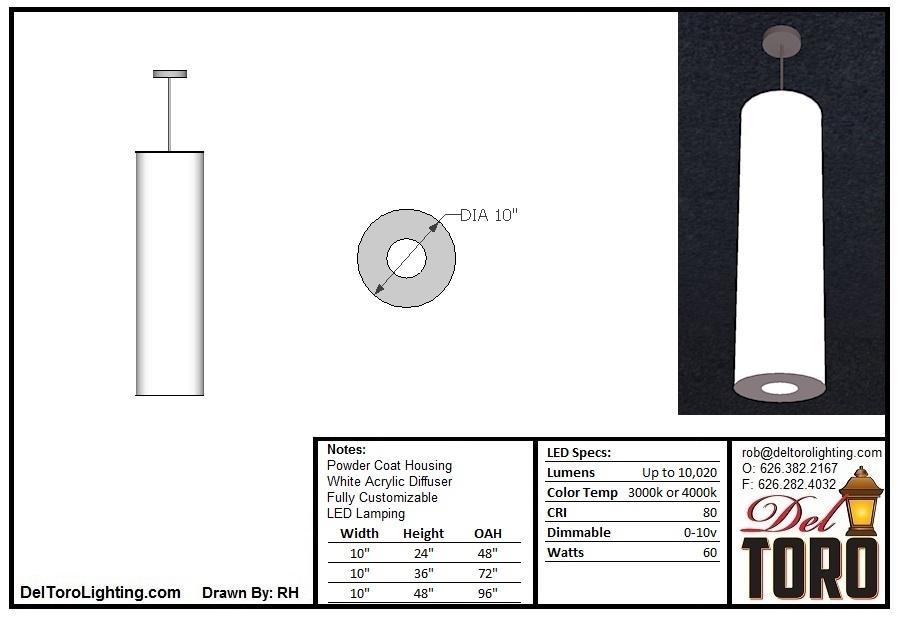 511P-Cylinder Tube Pendant