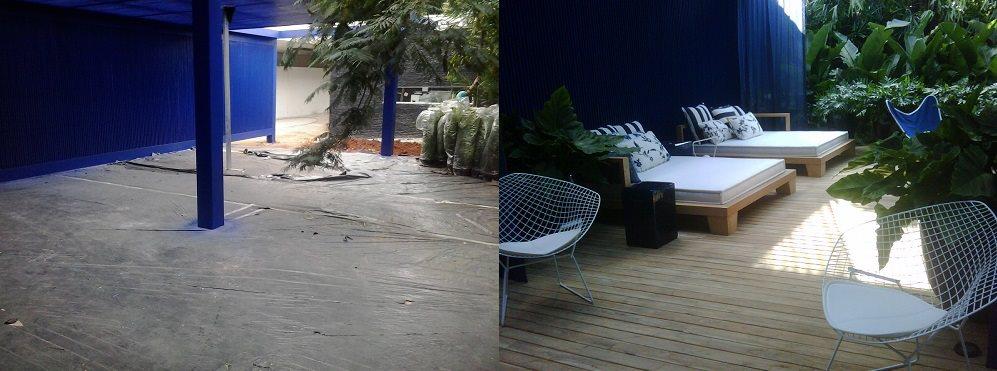 Casa Cor 2013 - Espaço Arq. Roberto Migotto Antes e depois