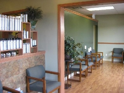 Salon Reception Area