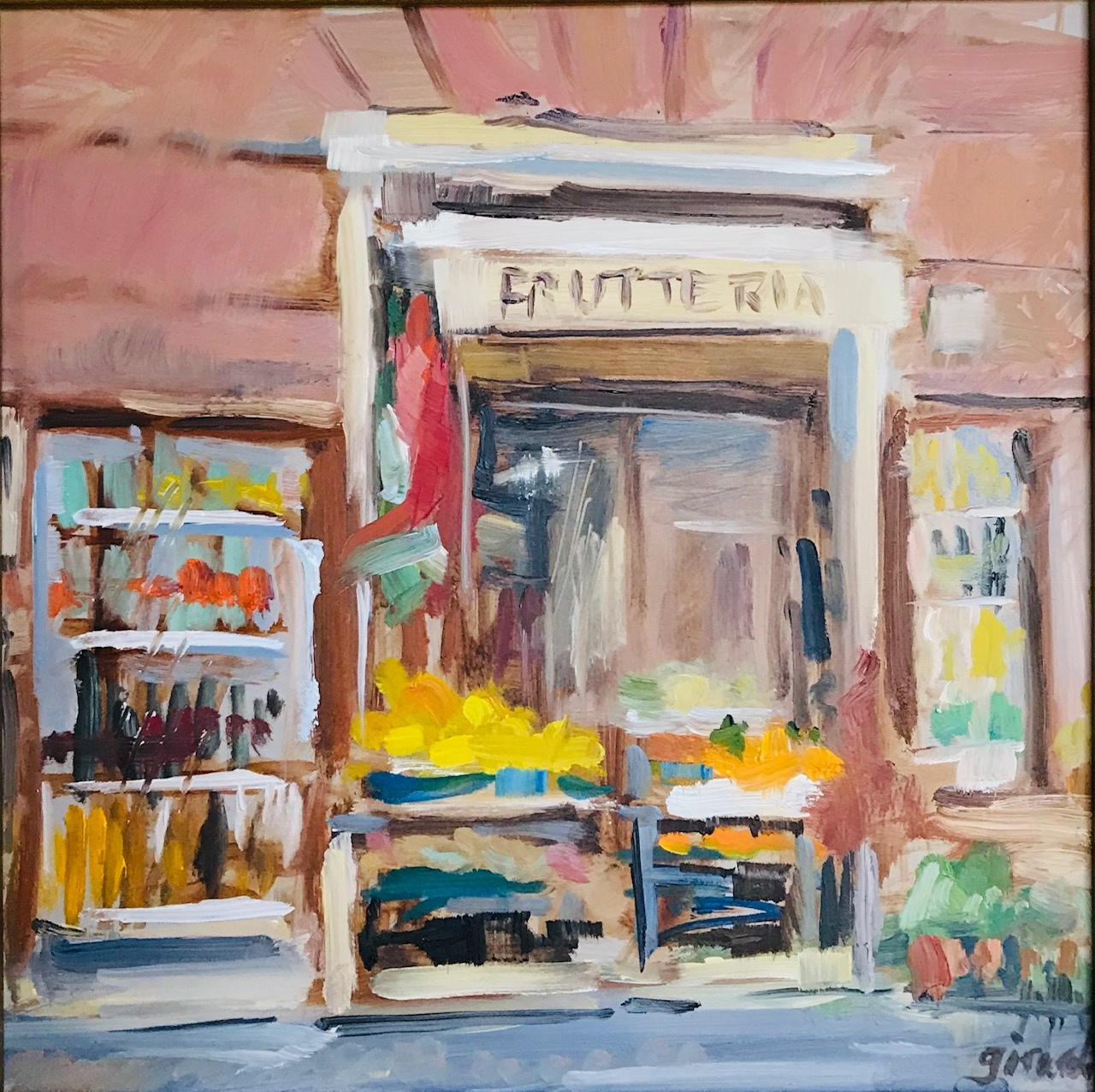 "Christina Girardi, Fruitteria, 8"" x 8"" Oil"