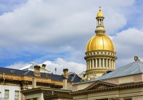 New Jersey State House Dome and Top of Statehouse