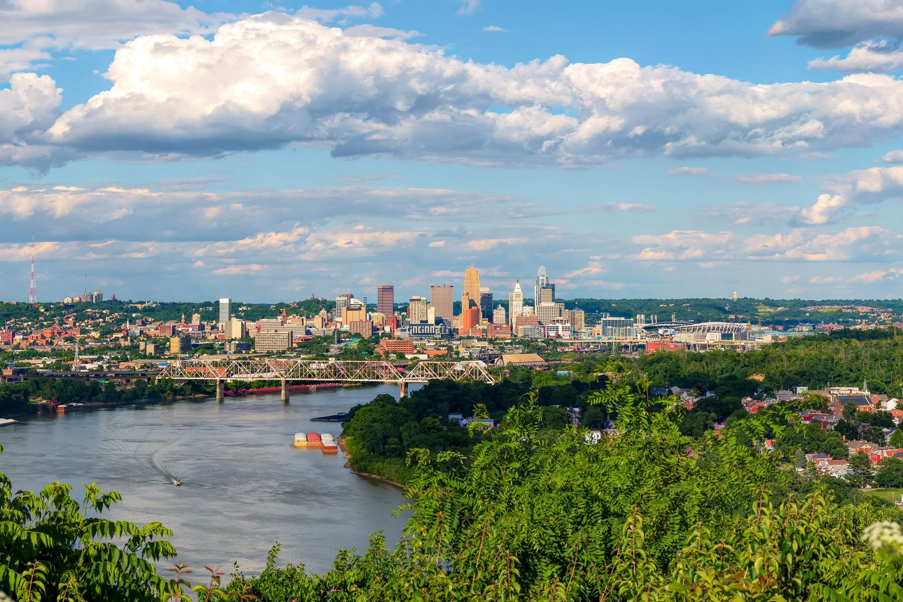 "VIEWING THE ""QUEEN"" FROM THE WEST - Most Cincinnatians are familiar with this view of the city. If you haven't visited Mount Echo Park in Price Hill, be sure to put it on your to do list. This is a grand view of the Queen City."
