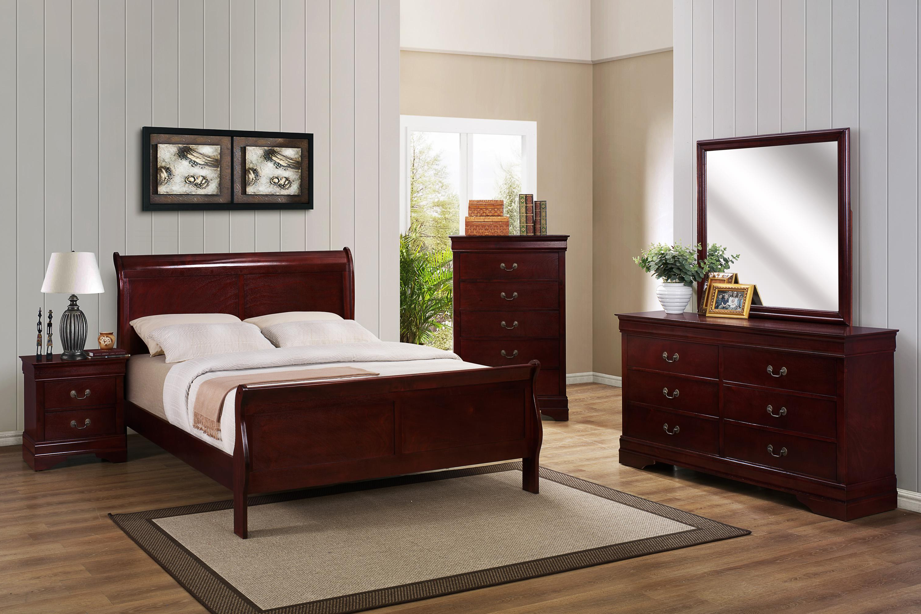 B3800 Louis Philip Bedroom Set