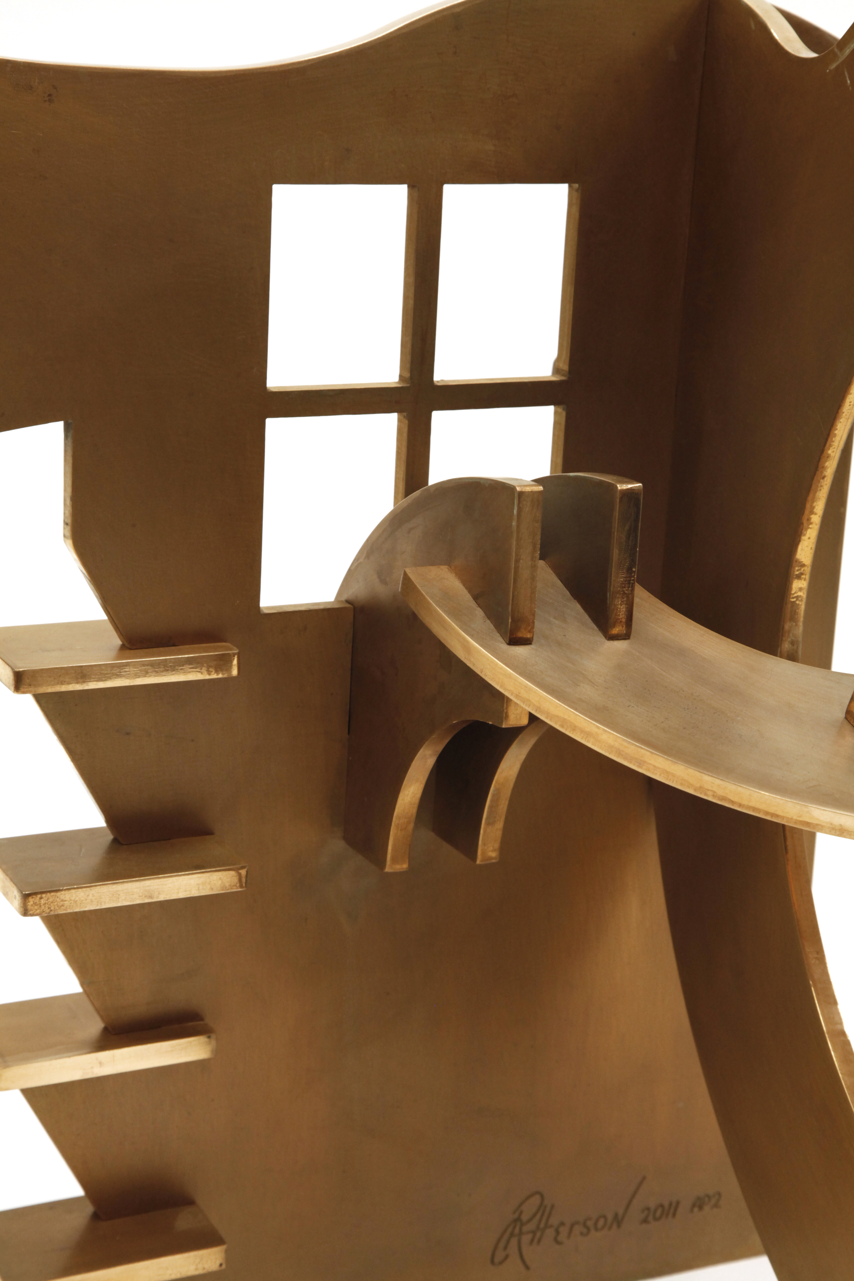 "View From Shungo's Window (Detail) - 2011, Fabricated Bronze with Patina, 35"" x 31"" x 27"""