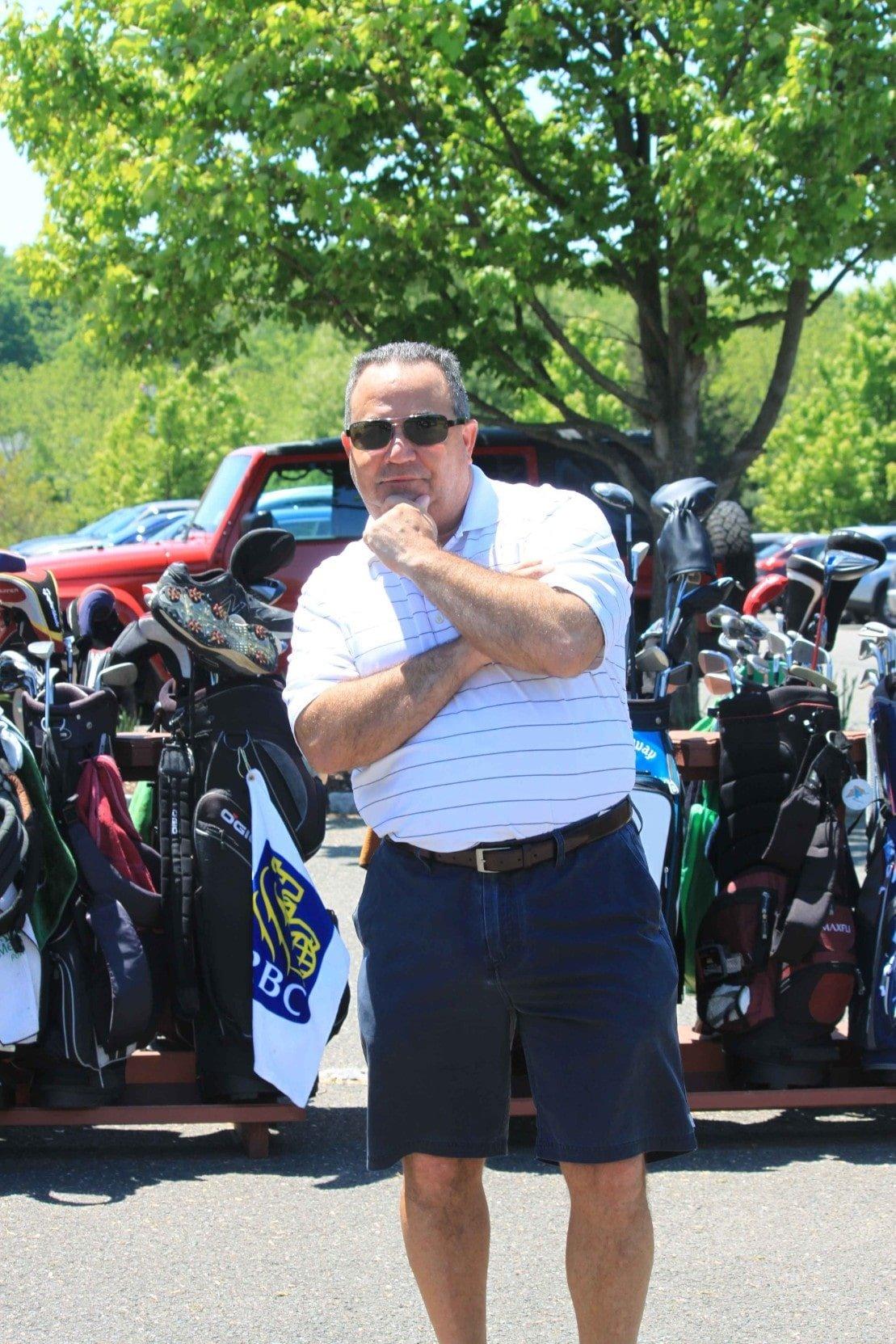 Golfer Posing