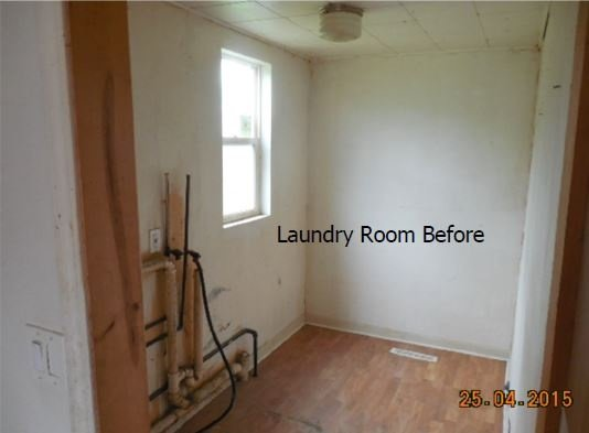 Before Laundry Room Upgrade